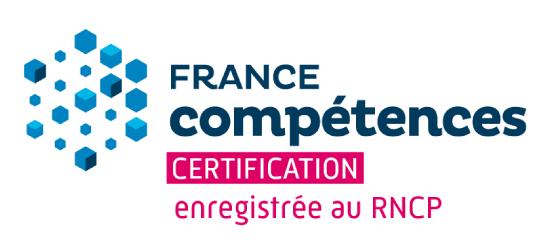 Certification enregistrée au RNCP