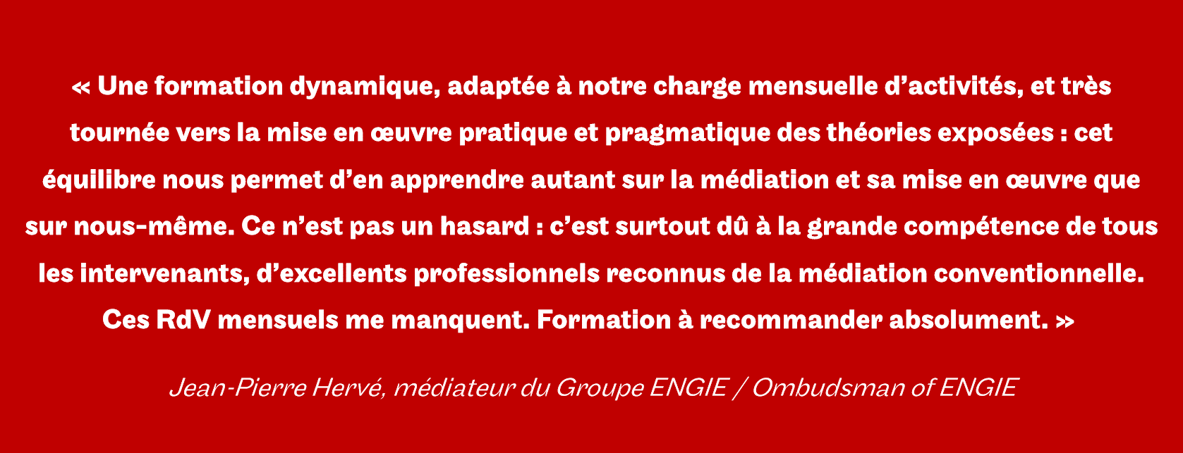 formation en médiation